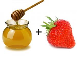 Masca cu miere si capsune