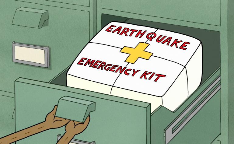 Rucsac cutremur