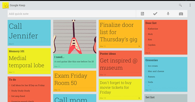 Despre Google Keep aplicatie notite