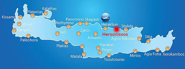 Hartă turistică Creta