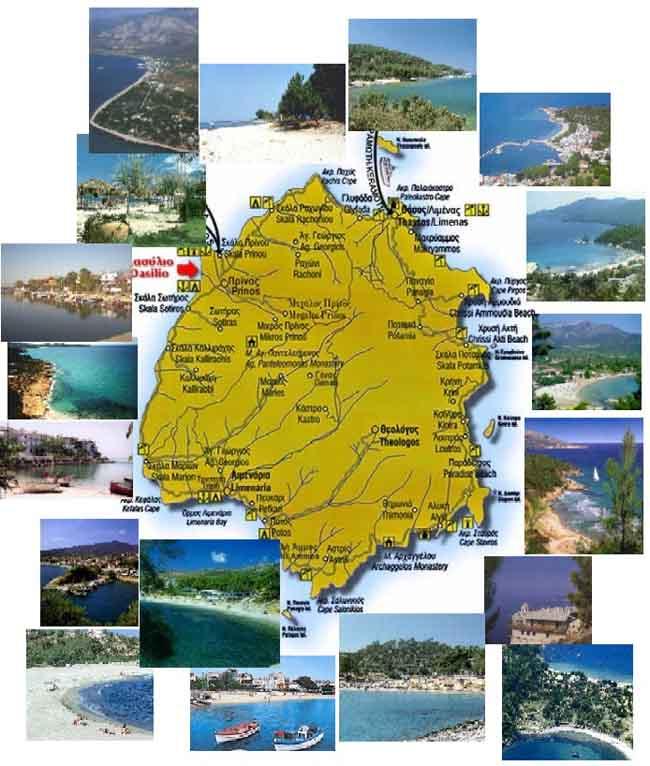 Hartă turistică Thassos