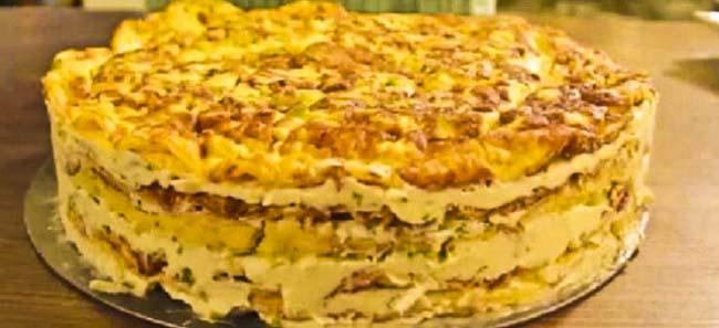 Reţetă tort din omletă
