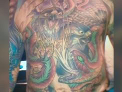 Pielea unui artist în tatuaje va fi conservată şi înrămată