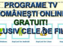 Gratuit programe tv romanesti online