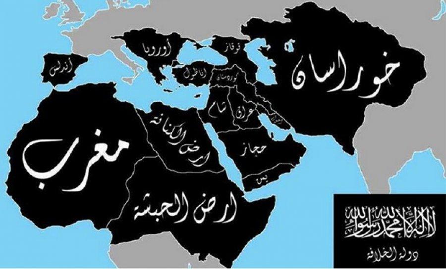 Harta ISIS cu Romania pe ea