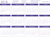 Calendar Romania 2018