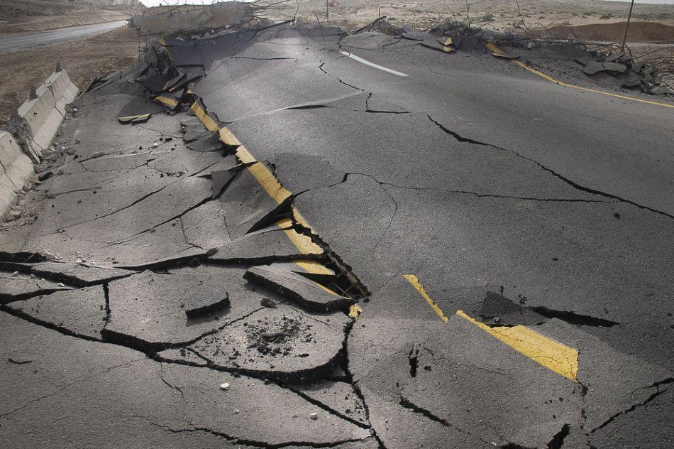 În China o porţiune de drum s-a prăbuşit
