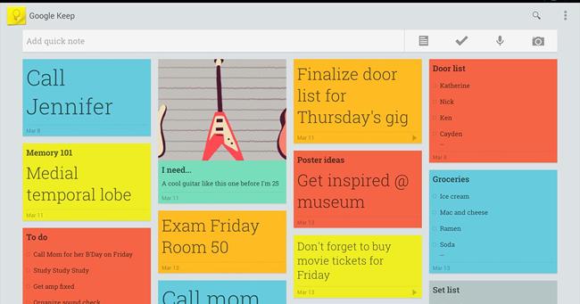 Aplicaţia pentru notiţe Google Keep