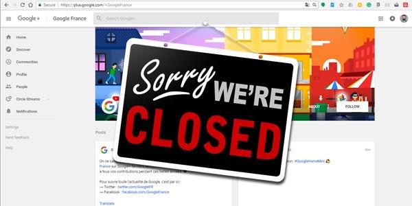 Google începe procedura de închidere pentru G+